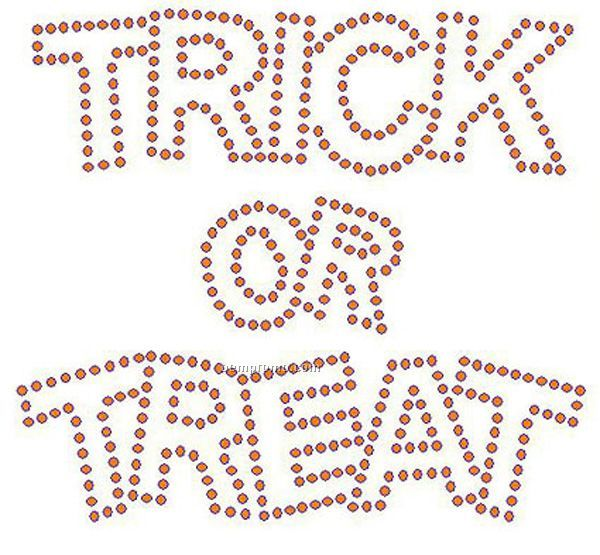 Trick Or Treat Rhinestone Transfer