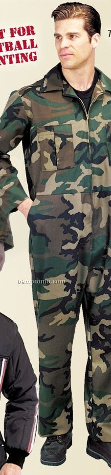 Woodland Camouflage Unlined Coveralls