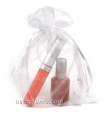 0.50 Fl. Oz. Bottle Of Nail Polish & 0.33 Fl. Oz. Lip Gloss In Organza Bag