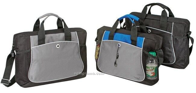 """Deluxe Polyester Briefcase (16""""X12""""X3"""")"""