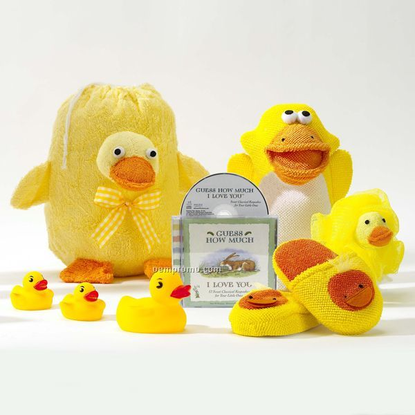 fun in the tub with ducky baby gift set china wholesale. Black Bedroom Furniture Sets. Home Design Ideas