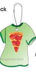 Pizza Slice T-shirt Zipper Pull