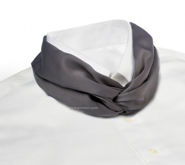Wolfmark Solid Series Polyester Satin Velcro Band Knot Scarf - Dark Gray