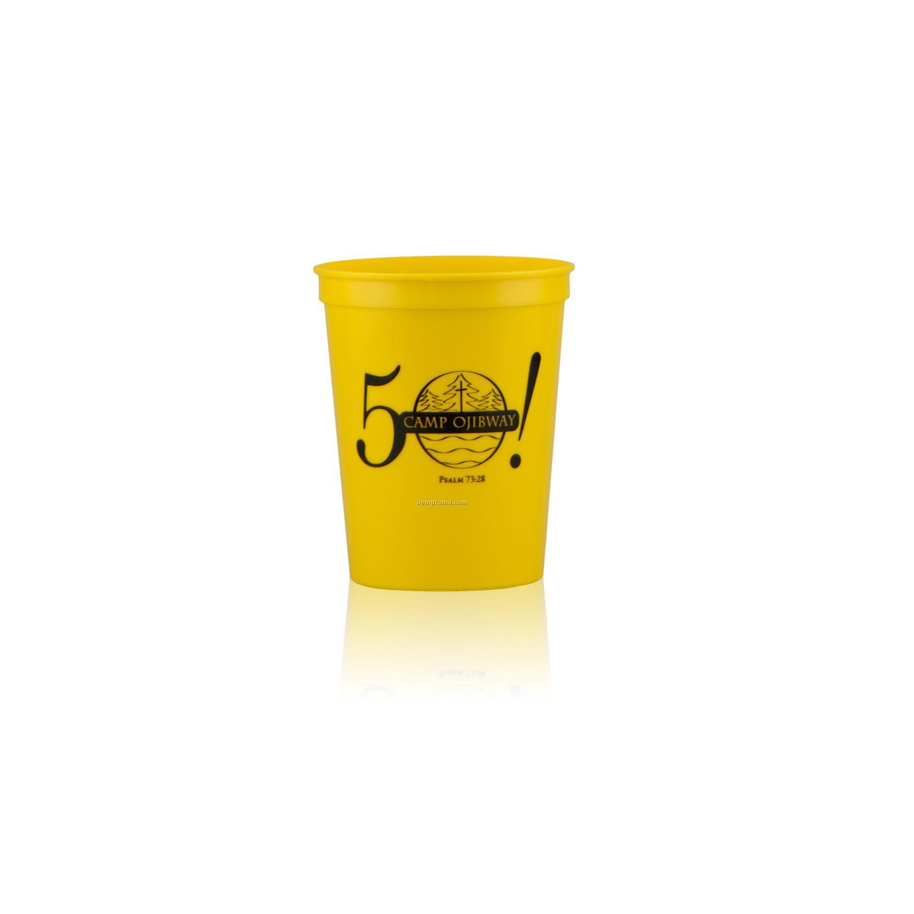 16 Oz. Stadium Cup Yellow