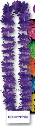 "40"" Tropical Island Leis W/ Custom Paper Medallion (6 Flower Colors)"