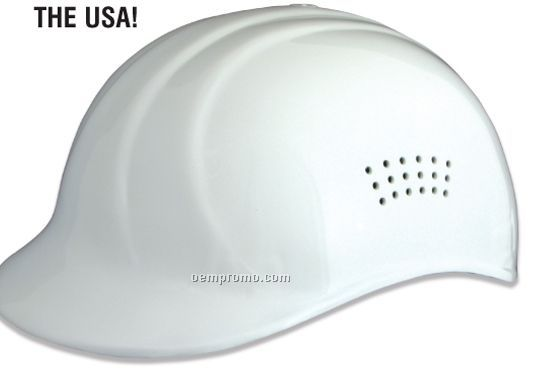 67 Bump Cap Safety Helmet W/ Perforated Sides - Gray