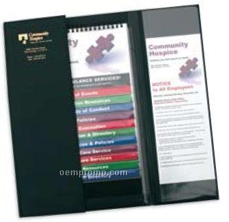 Ez Reference 12 Pocket Flip Chart Folder