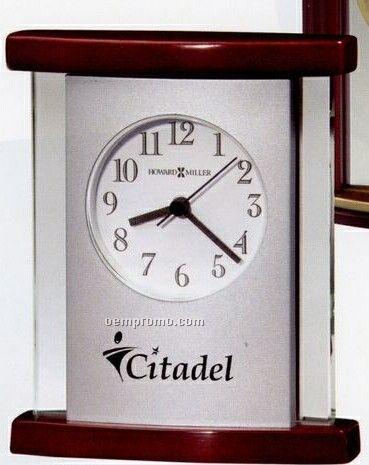 Howard Miller Hyatt Wood & Glass Curved Clock (Blank)