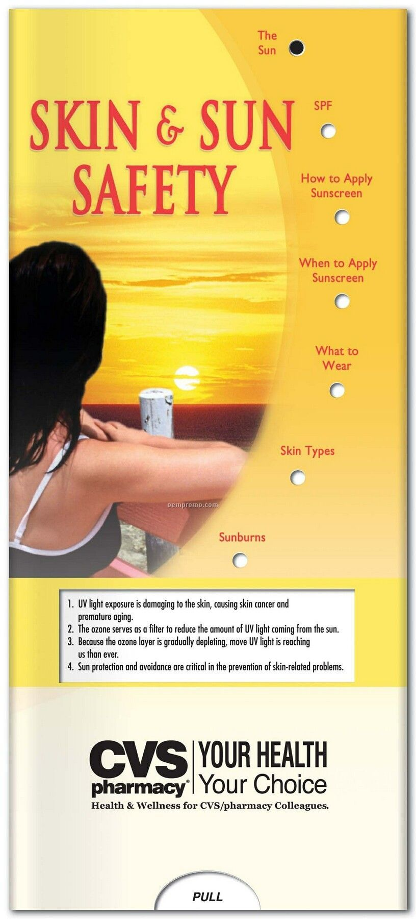 Pillowline Skin & Sun Safety Pocket Slider Chart