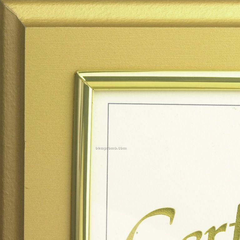 Satin Gold Raised Designer Frame