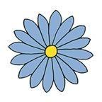 "Stock Temporary Tattoo - Simple Flower (1.5""X1.5"")"