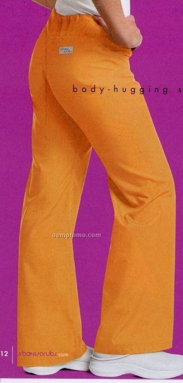Urbane Essentials Women's Boot Cut 60/40 Cotton/ Poly Scrub Pants