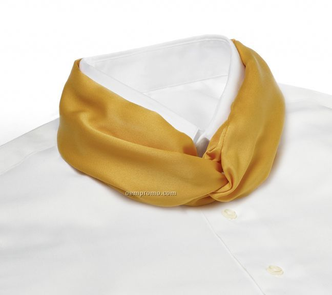 Wolfmark Solid Series Polyester Satin Velcro Band Knot Scarf - Gold