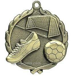 """Medal, """"Soccer"""" - 1-3/4"""" Wreath Edging"""