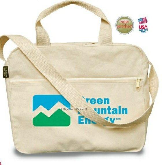 100% Organic Canvas Attache Bag