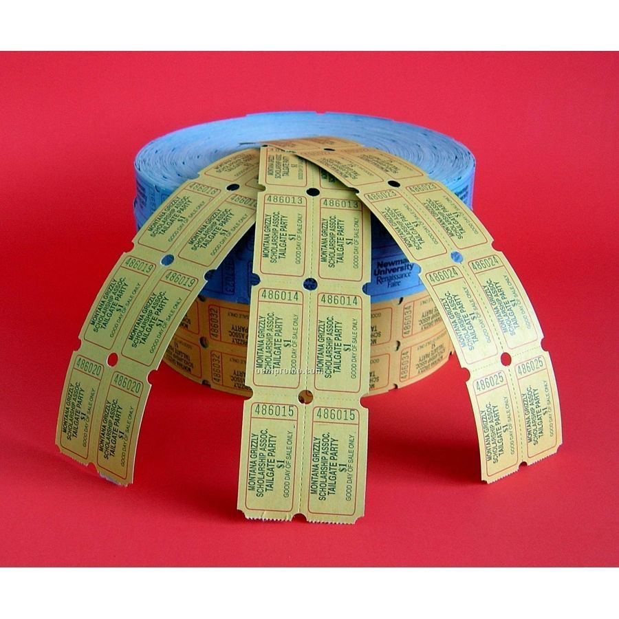 "2""X2"" Roll Tickets - Double / 2 Front Imprint & Standard Imprint Back"
