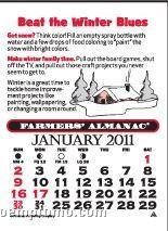 Farmers' Almanac Magna Stick Calendar (Thru 8/1/2011)