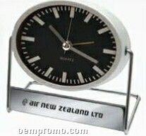 Quartz Analog Swivels Desktop Alarm Clock W/ Oval Face