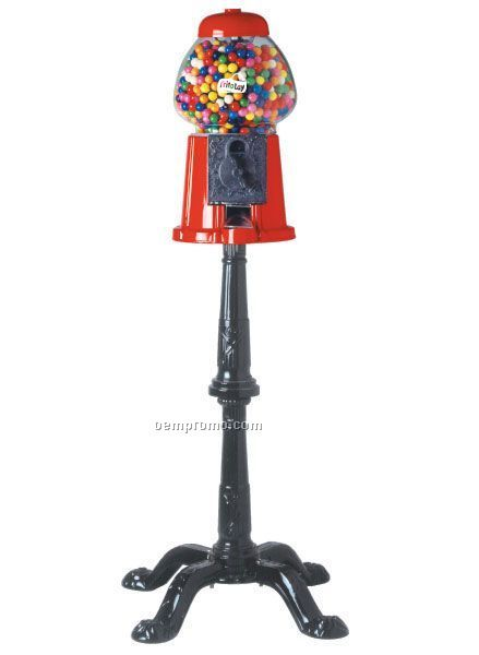 "Gumball / Candy Dispenser Machine With Stand (37"" Total Height)"