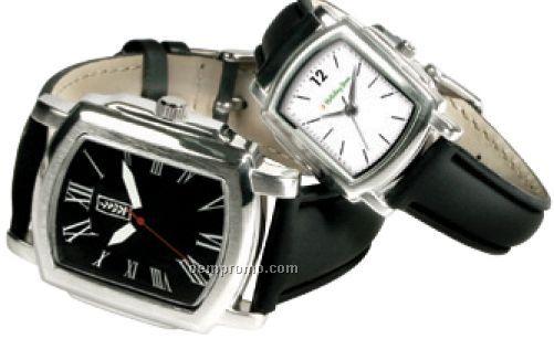 Men's Classic Watch W/ Black Cowhide Pu Strap