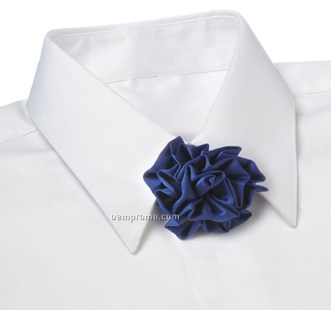 Wolfmark Polyester Satin Adjustable Band Rosette Tie - Royal