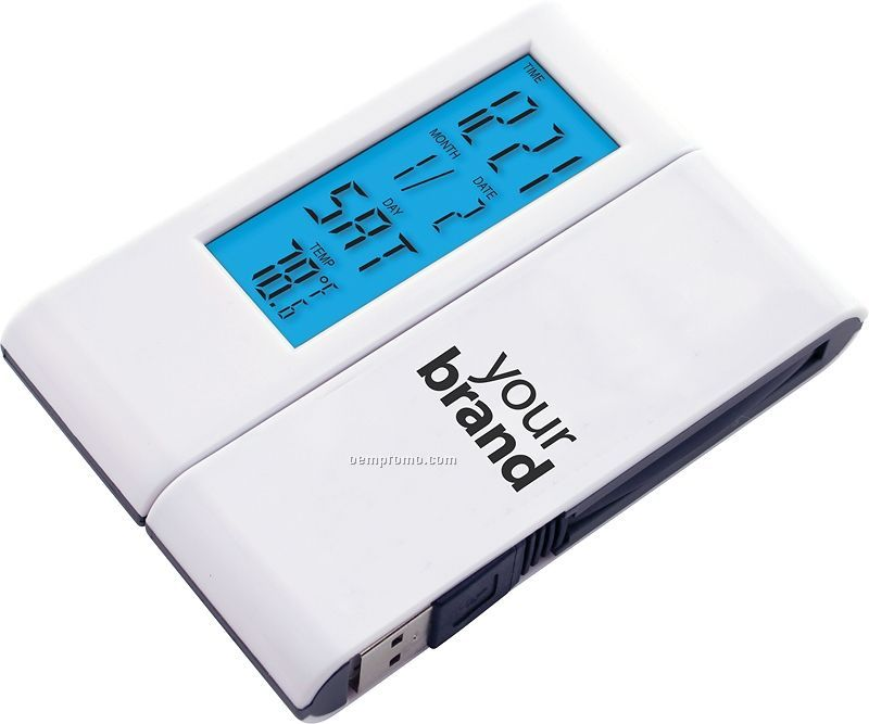 4 Port Hi-speed USB 1.1 Hub With Alarm Clock