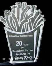 Acrylic Paperweight Up To 20 Square Inches / French Fries