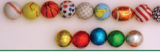 Chocolate Marbles, Earth And Sports Balls Candy