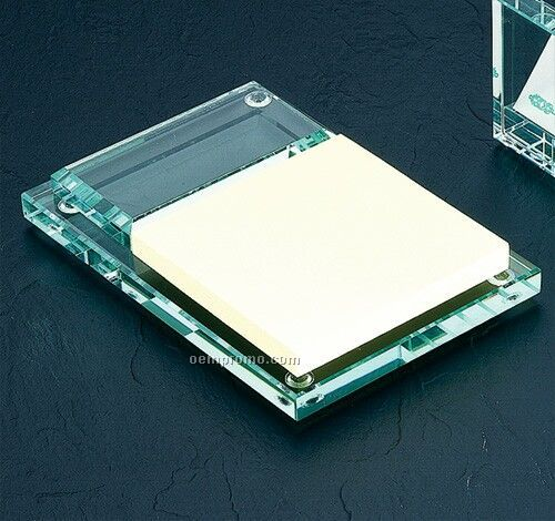 Jade Glass Memo Pad Holder