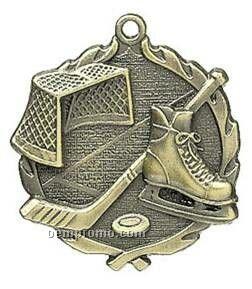 "Medal, ""Hockey"" - 1-3/4"" Wreath Edging"