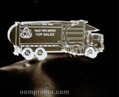 Acrylic Paperweight Up To 20 Square Inches / Garbage Truck 1