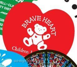 Single Side Heart Shaped Fan