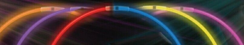 """22"""" Triple Color Standard Glow Necklace (Red/ White/ Blue)"""