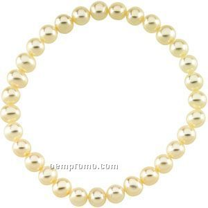 """7"""" 5-1/2 To 6mm Panache Freshwater Cultured Pearl Stretch Bracelet"""