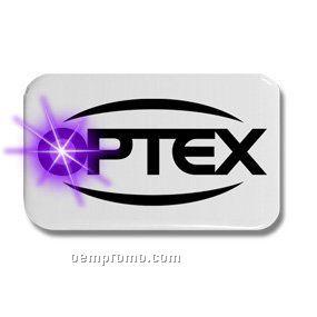 Oblong Light Up Button W/ Purple LED