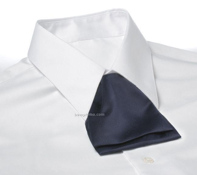Wolfmark Polyester Satin Adjustable Band Cascade Tie - Navy Blue
