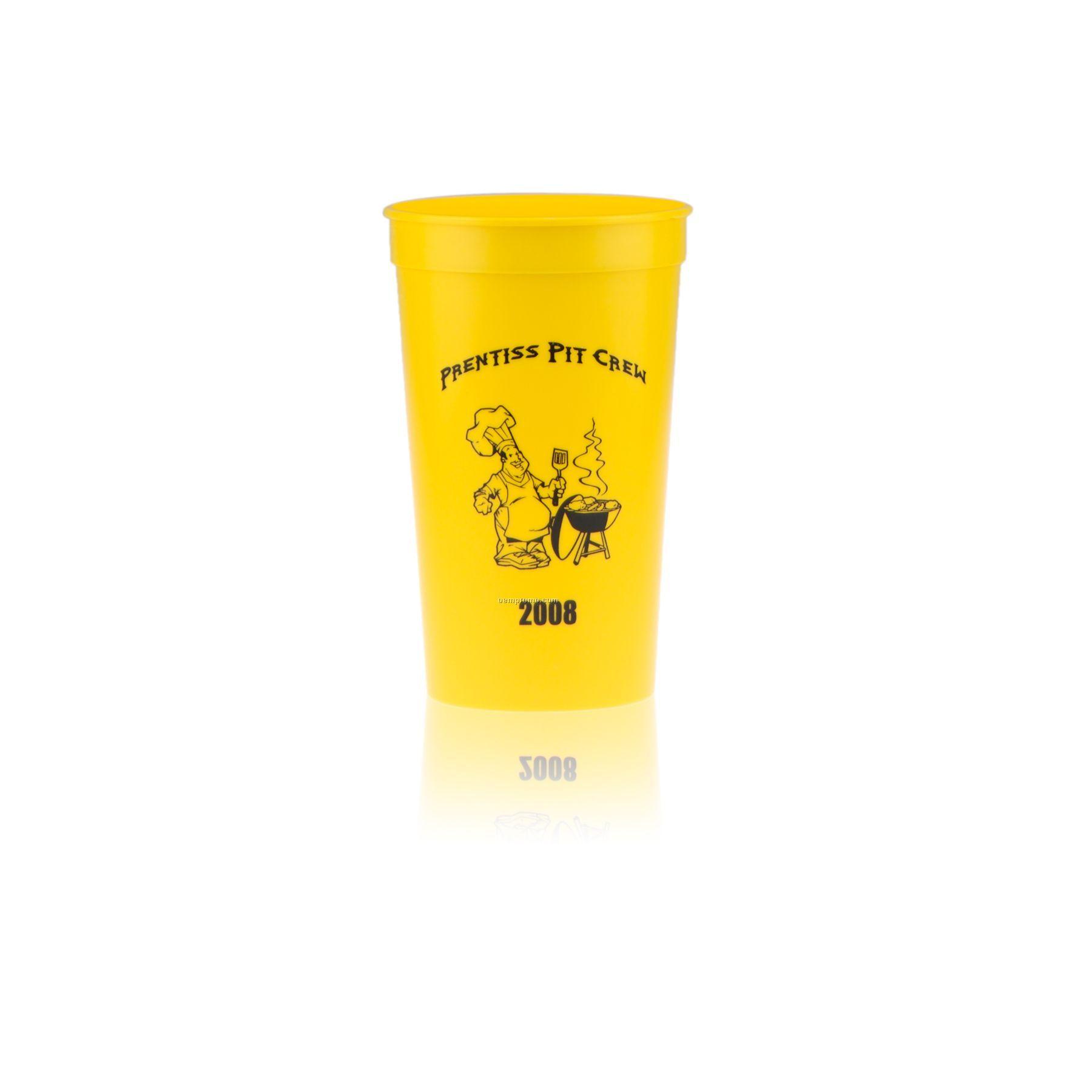 22 Oz. Stadium Cup Yellow