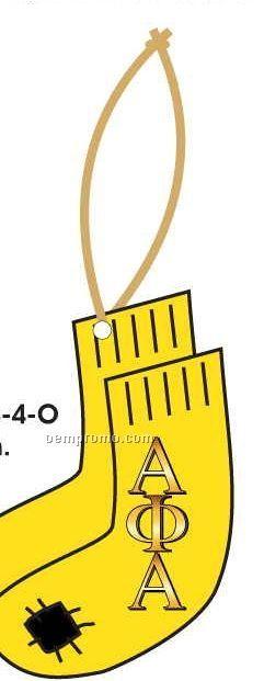 Alpha Phi Alpha Fraternity Socks Ornament W/ Mirror Back (4 Square Inch)