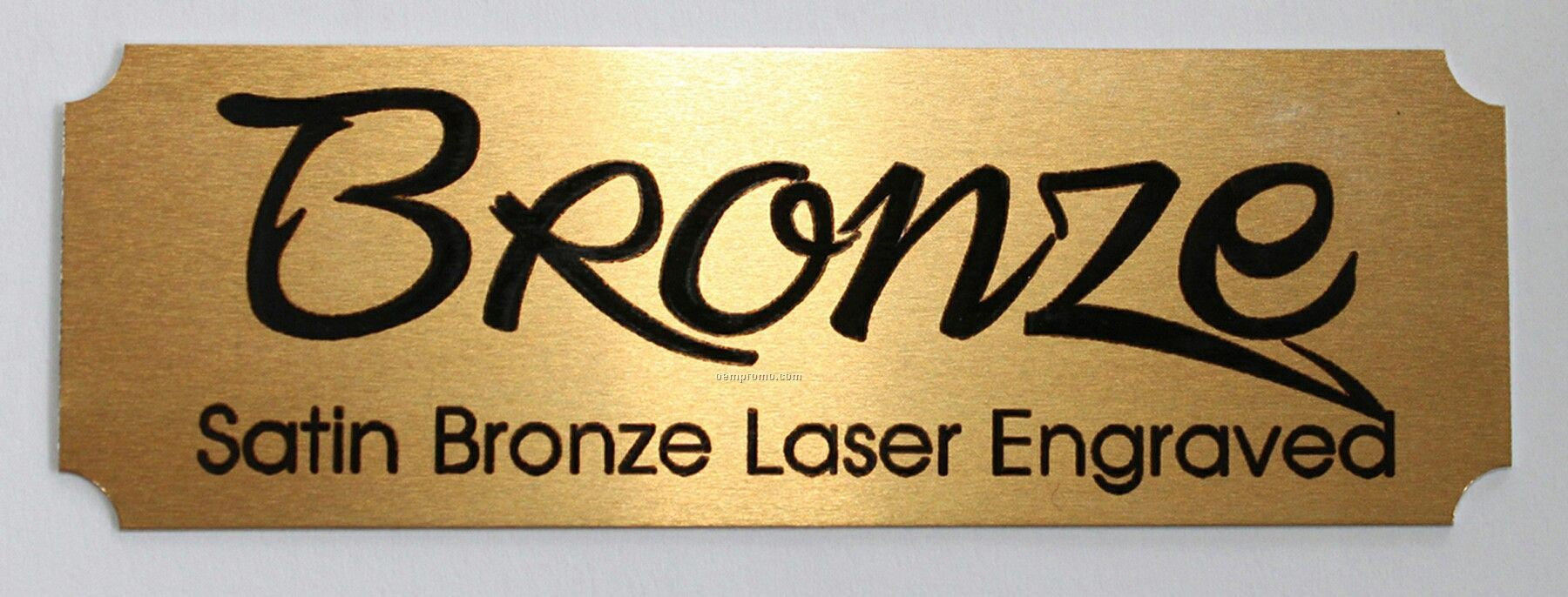 Laser Engraved Satin Bronze Name Plate 3 W X 1 HChina