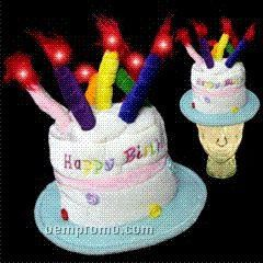 Light Up Hat - Birthday Cake - LED