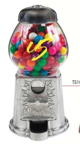 "Silver 9"" Gumball / Candy Dispenser Machine"
