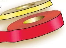 """Stock Barrier & Border Tapes - Red (1 1/8""""X1200')"""