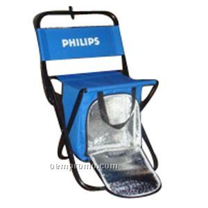 Folding Chair W/ Insulated Cooler, Holds 275 Lbs.