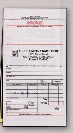 Fuel Meter Ticket Form W/ Carbons (3 Part)