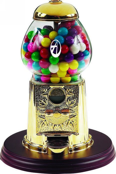 "Gold 9"" Gumball / Candy Dispenser Machine"