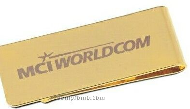 Gold Money Clip W/ Pouch