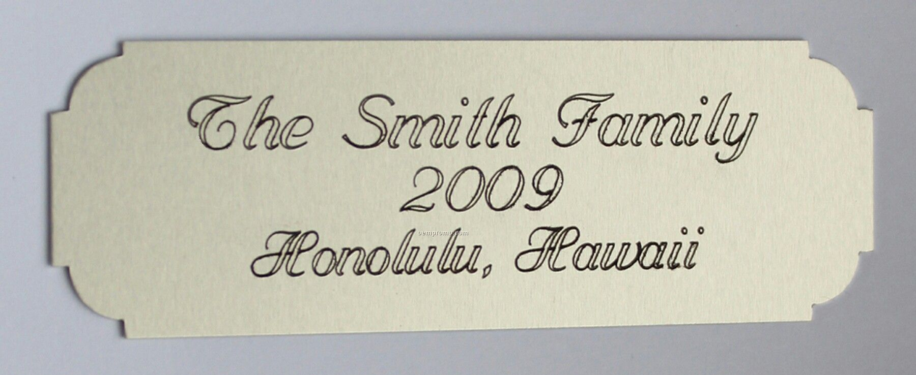 Laser Engraved Satin Silver Name Plate 3 Quot W X 1 Quot H China