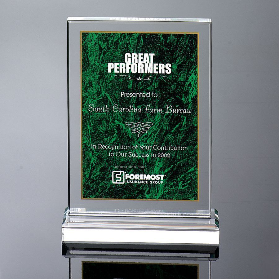 Marble Print Award - Green