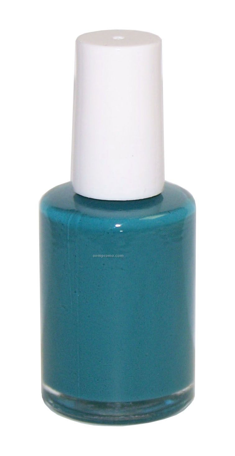 Round 0.50 Fluid Ounce Ovarian Cancer Awareness Bottle Of Nail Polish