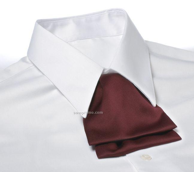 Wolfmark Polyester Satin Cascade Adjustable Band Tie - Maroon